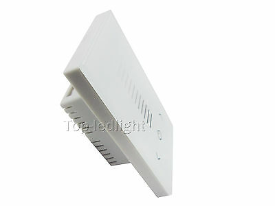 DC12-24V White US Standard Low Voltage Touch Panel Dimmer LED Light Controller