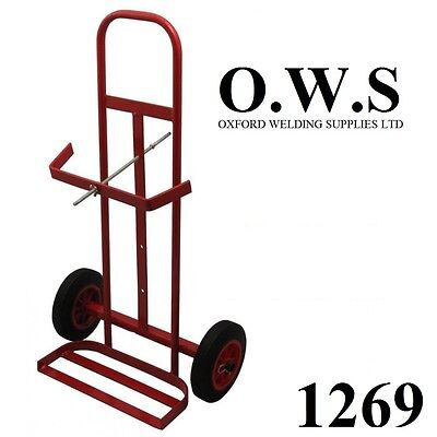 Gas Portable Welding Trolley 1269 Twin Bottle Welder 2 Bottle Cylinder Holder