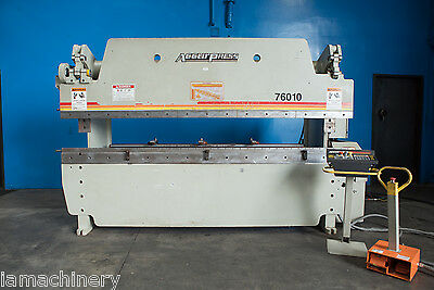 60 Ton x 10' Accurpress Model 76010 CNC Hydraulic Press Brake, S/N 10382 (2009)