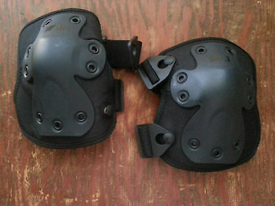 HWI pair NGK100 Next Generation TACTICAL black KNEE PADS new # 6000 one size