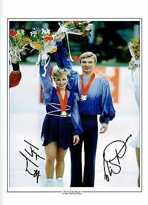 Jayne TORVILL & Christopher DEAN Signed Autographed 16x12 Medal Photo COA AFTAL