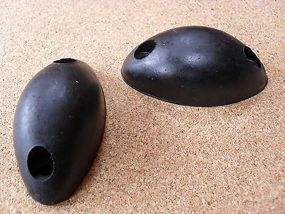 Pair Of Oval Mouse Rubber Buffers,  Dropside, Horsebox, Tipper, Trailer, Pickup