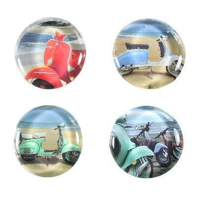 Novelty Scooter Pebble Look Fridge Magnet Various Colours,