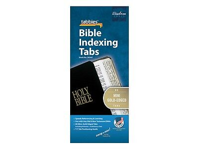 MINI BIBLE INDEXING TABS Old & New Testaments GOLD EDGED Tabbies 58342
