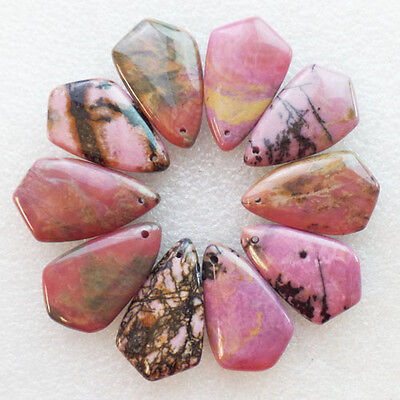 10Pcs Beautiful Rhodonite Pendant Bead LL1996