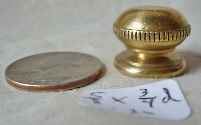 """Lamp Finial OLD brass ball 5/8"""" h  x 3/4""""dia POLISHED knurled edge (per each) #2"""