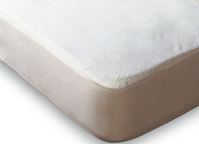 Cot Bed Terry Towel Waterproof Mattress Protector Cot Bed 70cm x 140cm  Free P&P