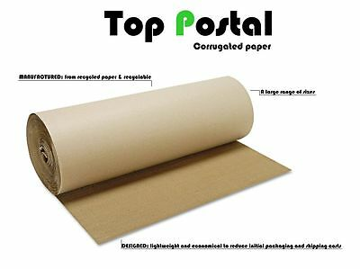 CORRUGATED STRONG CARDBOARD PAPER ROLLS - 75m 300mm 500mm 600mm 750mm