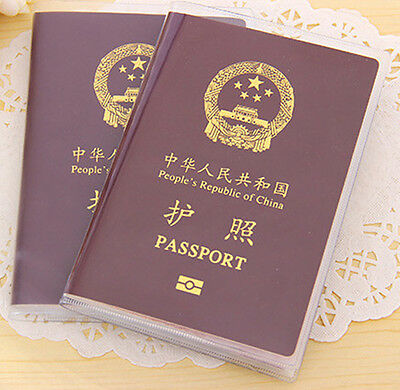 Organizer ID Card Travel Protector Passport Cover Clear Transparent Holder Case