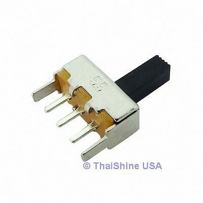 10 x VERTICAL SLIDE SWITCH 50V 0.5A DC 1P2T