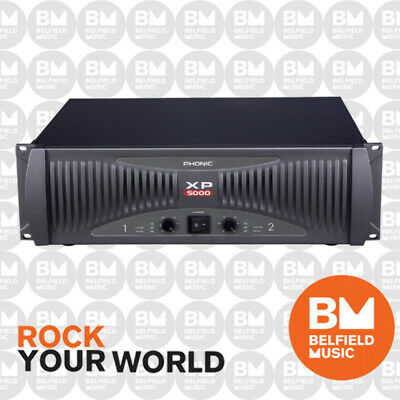Phonic XP 5000 Touring Stage 5000w Powered Amplifier Amp XP5000 Watts - BNIB -BM