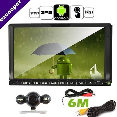 """HD Double 2DIN 7"""" Android WIFI GPS Capacitive Touchscreen GPS BT  iPod+CAMERA"""