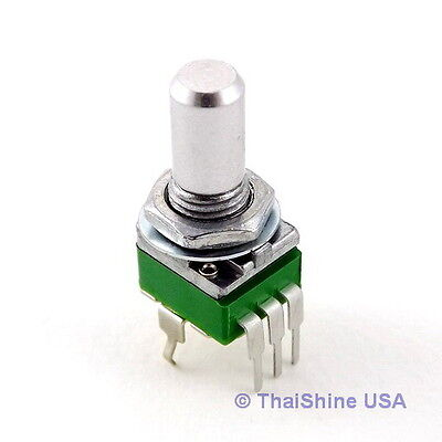 2 x 1K OHM Linear Taper Potentiometer Round Shaft PCB 9mm - USA Seller Free Ship
