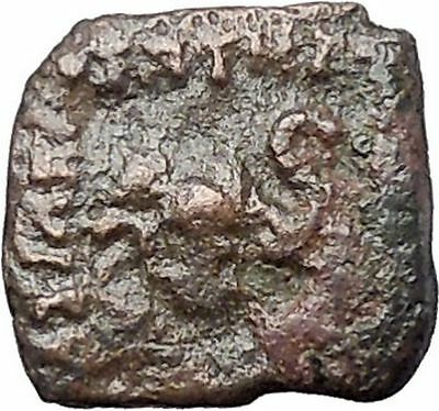 Menander I Soter 155BC Indo Greek Kingdom of India ELEPHANT Ancient Coin i47468