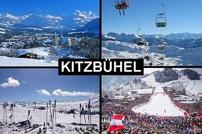 SOUVENIR FRIDGE MAGNET of KITZBUHEL AUSTRIA SKIING
