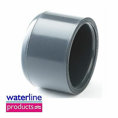 End Cap Plain Solvent Cement Grey uPVC Pipe Fitting Imperial