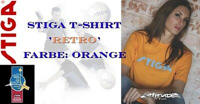 NICE PRICE --> STIGA T-Shirt Retro orange 100% Baumwolle - neu