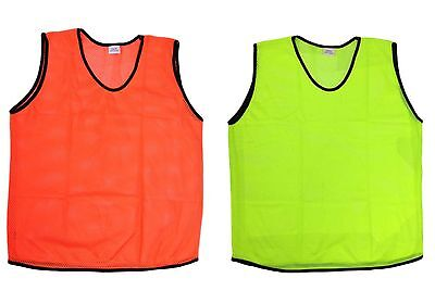 12 Scrimmage Vests Soccer Basketball Team Training Youth Adult Pinnies Jerseys