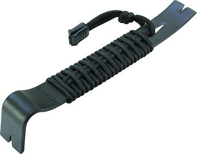 Schrade Black Powder Coated SK5 550 Black Paracord Wrapped Pry Bar SCHPB1BK NEW