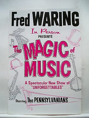 FRED WARING - THE MAGIC OF MUSIC Herald SYMPHONY HALL Boston 1963