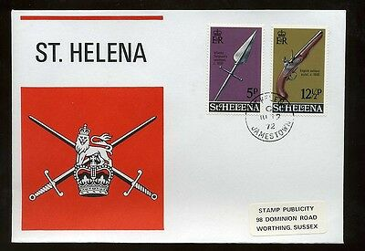 1972 St Helena Military Cover with 5p 12.5p stamps