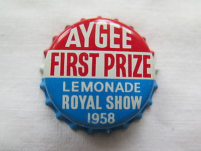 Crown Seal Bottle Cap Aygee Firstprize Lemonade Royal Show 1958 Aust Mint Unused