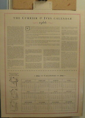 Calendar Backing 1967 The Travelers Currier & Ives