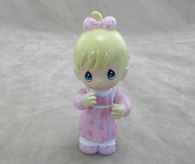 Precious Moments Baby Girl in Pink Dress Figurine 2 - 3/4""