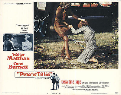 Pete 'n' Tillie 1973 Original Movie Poster Comedy Drama Romance