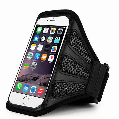 """iPhone 6 Plus 5.5"""" Grey Mesh Running, Jogging, Cycling Armband Mobile Phone Cove"""
