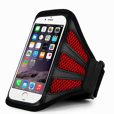 """iPhone 6 Plus 5.5"""" Red Mesh Running, Jogging, Cycling Armband Mobile Phone Cover"""