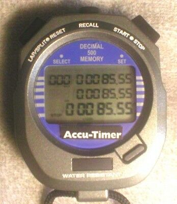 All Seconds Stop Watch Accu-Timer 3