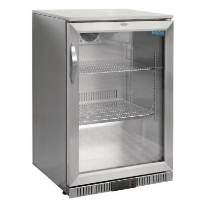 Polar Single Door Back Bar Cooler  with LED Lighting. 138Ltr GL007