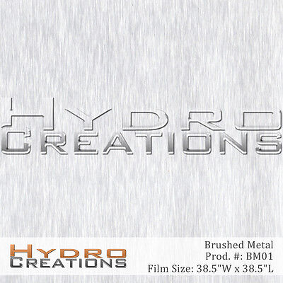 Hydrographic Film For Hydro Dipping Water Transfer Film Brushed Aluminum Metal
