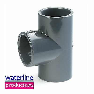 Equal Tee 90° Plain Solvent Cement Grey uPVC Pipe Fitting Imperial