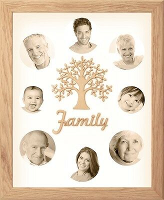 New Handmade UK Solid Oak Wooden Photo Picture Frame Wood Family Tree of Life