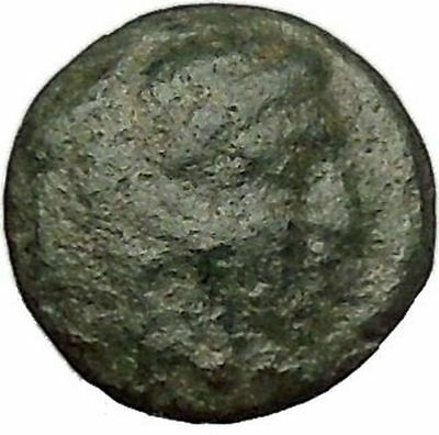 Alexander the Great as Hercules Ancient Greek Coin Quarter Unit Small i47860
