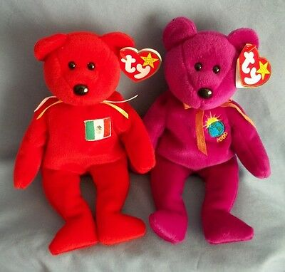 Ty Beanie Baby Millennium Bear &  Osito Bear. With Tags. Dated 1999 Free Ship