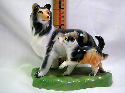 "Vtg Ceramic Collie Dog  Decorative Figurine 5""H  Japan"