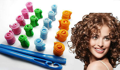 Set 18 Bigodini Magic Roller Per Acconciatura Capelli Ricci Con Boccoli 1 Asta