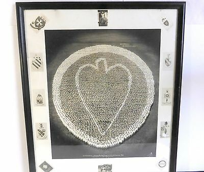Hawaiin Division 1932 Living Insignia Vintage Framed Military Photo-Schofield