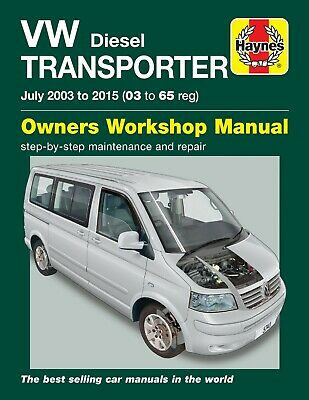 Volkswagen Transporter T5 1.9 2.0 2.5 Diesel 2003 - 2014 Haynes Manual 5743 NEW