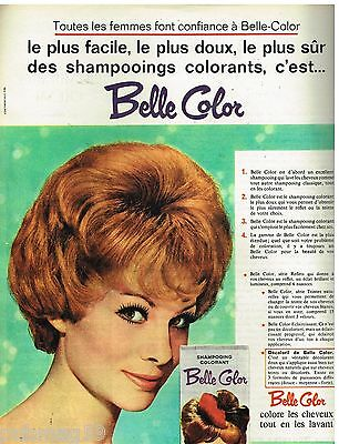 publicit advertising 1962 le shampooing colorant belle color - Shampoing Colorant Garnier