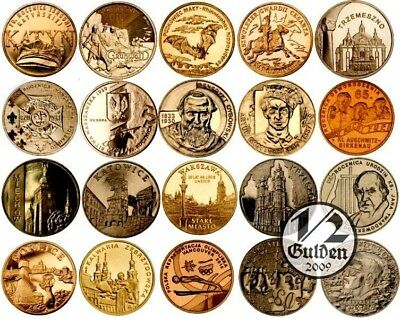 Poland Complete Set Of 20 Coins 2 Zloty 2010 Nordic Gold Uncirculated Coins