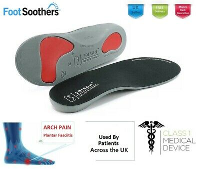 Orthotic shoe Insoles Arch Support Plantar Fasciitis Flat Feet Back Heel Pain