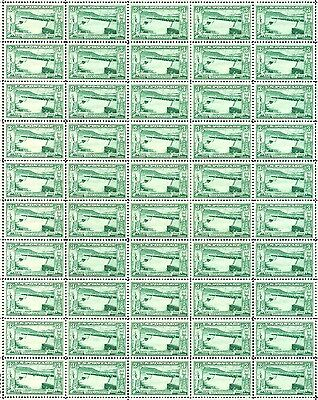 1952 - GRAND COULEE DAM - Full Mint -MNH- Sheet of 50 Vintage Postage Stamps