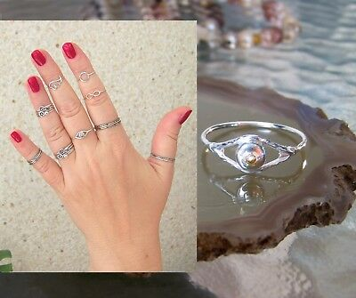 Minimalist Silver Midi Rings Stacking Dainty for Index finger rings any size