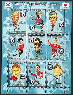 (051160) Soccer, Flag, Caricature, Kyrgyzstan - private issue -