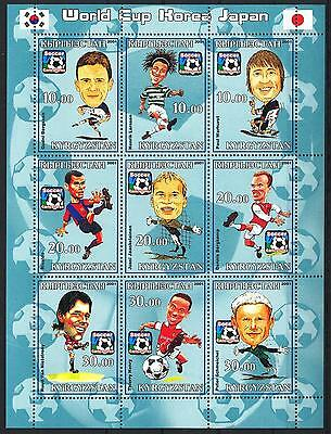 (051161) Soccer, Flag, Caricature, Kyrgyzstan - private issue -