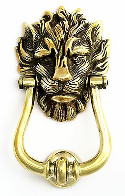 Solid Brass Lion's Head Door Knocker  Number 10 Downing Street Door Knockers NEW